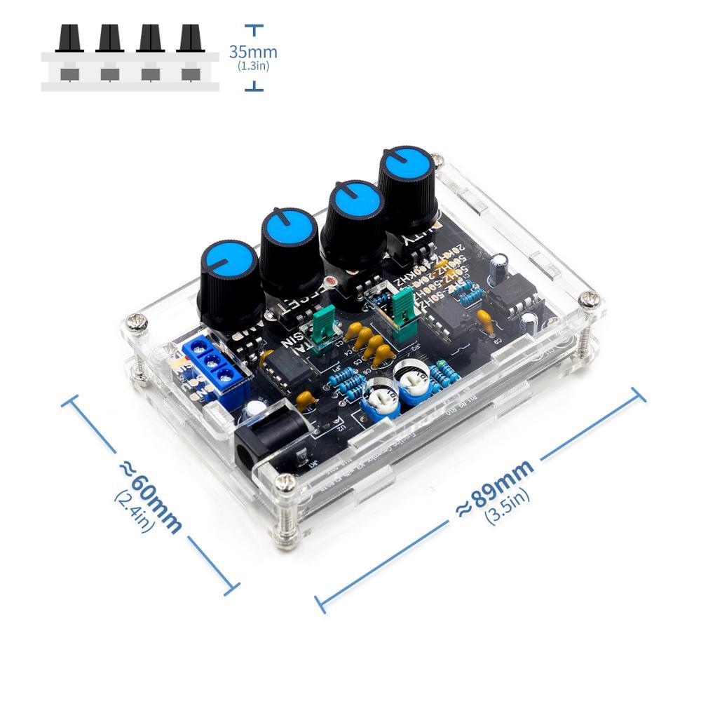 ICL8038 générateur de Signal de haute précision, kit de bricolage, Triangle Sine, sortie de dent de scie carrée, 5Hz ~ 400 kHz, Amplitude de fréquence réglable