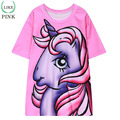 LIKEPINK New 2017 Summer Tops Women T-shirts Unicorn Pattern kawaii T Shirt Short Sleeve camiseta mujer long Pink Tees