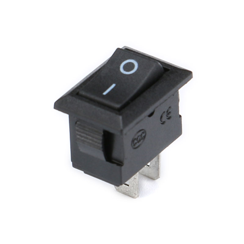 10PCS 3 Pin 3A 250V 10*15mm Black Button Rocker Switch ON OFF ON AC 10X15 Mini