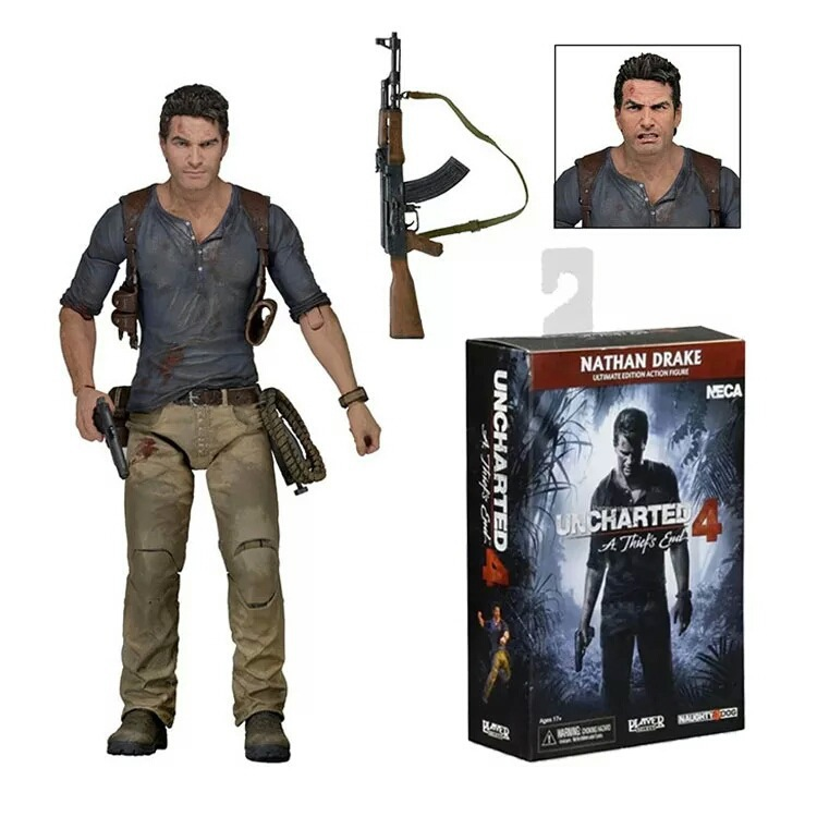 Elsadou NECA Uncharted 4 A thief's end NATHAN DRAKE Ultimate Edition PVC Action Figure Collectible Model Toy 7 18cm neca the evil dead ash vs evil dead ash williams eligos pvc action figure collectible model toy 18cm kt3427