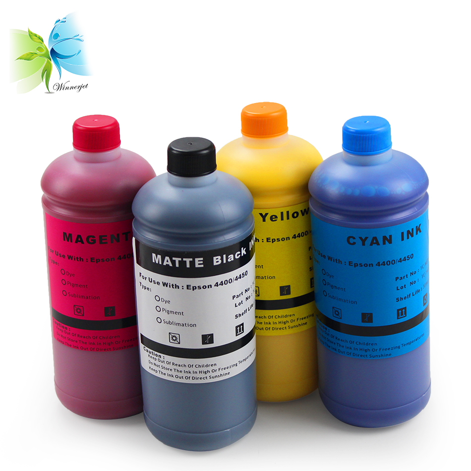 1000ml*6 colors T614 Waterproof Pigment Ink Used For Epson Stylus Pro 4400 4450 Printer Cartridge