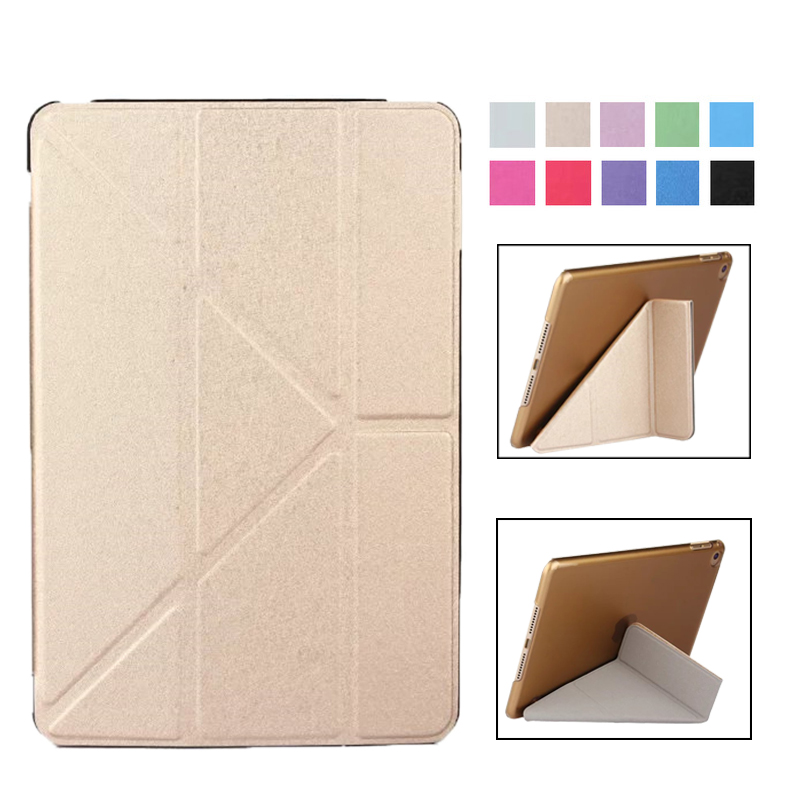 Ultra-Thin Case for IPad Mini4 Case PU Leather Stand Cover Elastic Skin Geometry Flip Cover for Apple IPad Mini 4 Case Fundas on tall pine lake