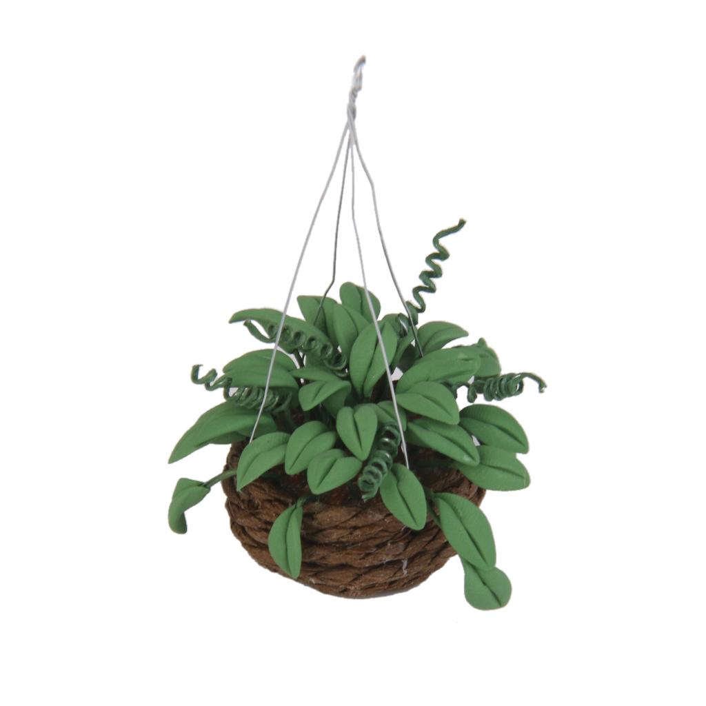 Poupée maison 112 échelle dollhouse miniature clay plante suspendue jardin accueil decora l