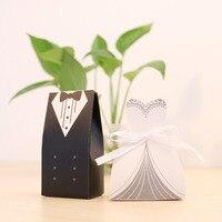 100 sztuk Przypadku Casamento Bride And Groom Ślub Pudełko Cukierków Prezent Dla Nowożeńców Ślubne Dla Gości Słodkie Polu Papieru Wedding Souvenir materiałów eksploatacyjnych