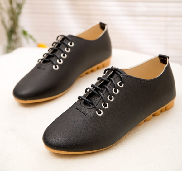 Aliexpress.com : Buy 2017 Flats Women Leather Shoes woman PU Black