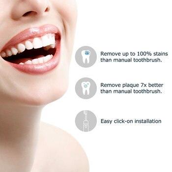 Набор сменных насадок для электрической зубной щетки Mornwell D01/D02, 4 шт. 2