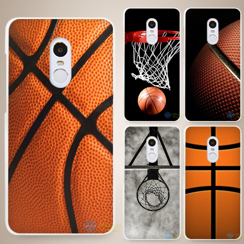 Basketball dark Hard White Cell Phone Case Cover for Xiaomi Mi Redmi Note 3 3S 4 4A 4C 4S 5 5S Pro