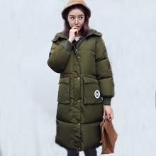 2016 Новый Зимний Толстые Женщины Вниз Пальто Корейской Моды Женский верхняя одежда Теплая Куртка Плюс Размер Женщин Ватные Куртки С Капюшоном SW065
