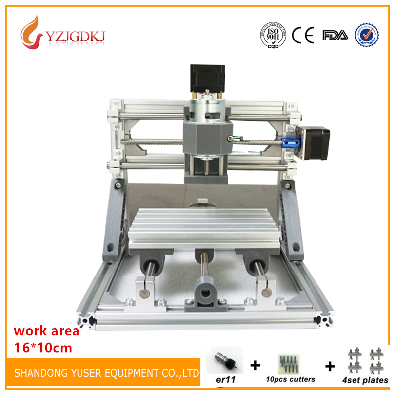 Wood Router 16x10 CNC 1610 500mw/2500mw5500mw laser GRBL control Diy laser engraving ER11 CNC machine,3 Axis pcb Milling machine eur free tax cnc 6040z frame of engraving and milling machine for diy cnc router