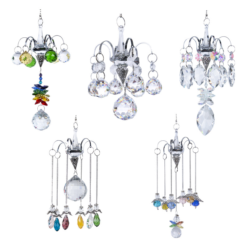 H&D 5 Styles Rainbow Window Suncatcher Collection Chandelier Crystal Prism Drop Hanging Ornament Creative Gift Home Garden Decor