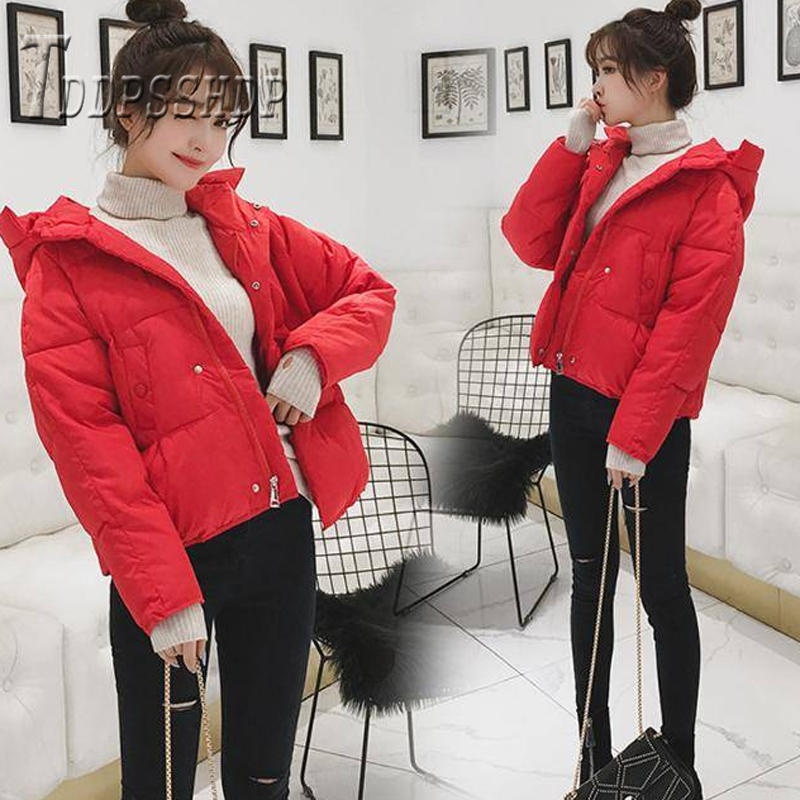 Five Color Can Choose Women   Parkas   2019 Winter Long Sleeve Zipper Female Jacket Coat