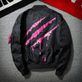 Fashion Long Sleeve Black Ma1 Bomber Jacket Men 2017 New Embroidery Pilot Jacket