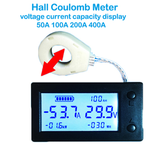Image 5 - 50A 100A 200A 400A STN LCD Hall Coulomb Meter Counter Voltage Current AMP Capacity Indicator Display eBike Car Isolation Monitor