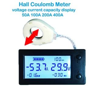 Image 5 - 50A 100A 200A 400A STN LCD Hall Coulomb mètre compteur tension amplificateur de courant capacité indicateur affichage eBike voiture Isolation moniteur