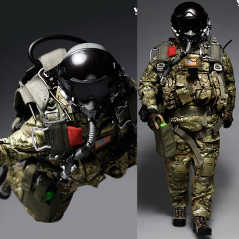 1/6 Scale U.s Special Forces Parachute Troops Clothes And Accessories For 12''soldiers Bodies