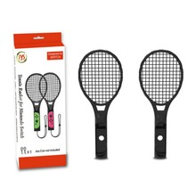 1 Pair ABS Tennis Racket Gamepad Handle Holder for Nintendo Switch NS Switch Joy-con Tennis ACES Game Player with 2 Analog Cap