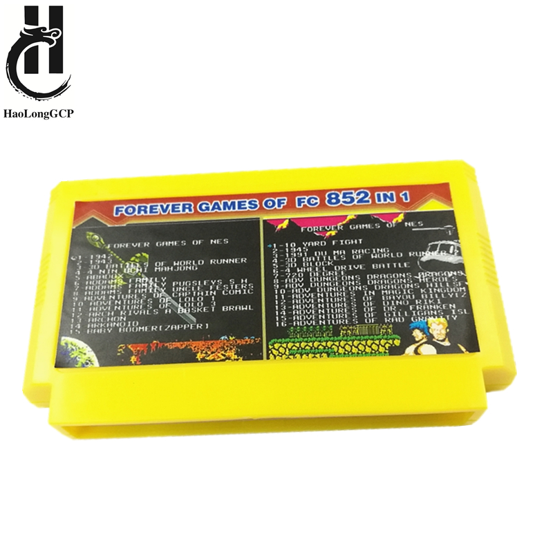 High Quality 852 In 1 8bit Game Card For Family Video Game Console Computer 60 Pin Game Cartridge Support Save Progress