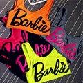 5 Colores Barbie Crop Acolchado Tops Push up Moda de Nueva 2017 Mujeres Del Verano Casual Camiseta sin Mangas