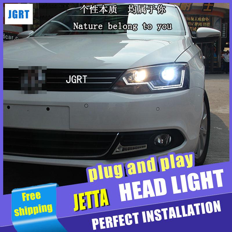 Стайлинга автомобилей для VW Джетта фары Ассамблеи 2011-2014 Волкс Ваген Джетта МК6 светодиодные фары Джетта Сид DRL H7 с спрятанный набор 2 шт.