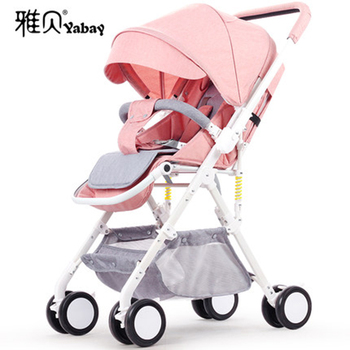 Baby Stroller Can Sit Reclining Ultra-light Portable Folding Simple High Landscape Child Trolley Umbrella Car stroller can sit reclining light portable simple folding high landscape two way shock baby stroller