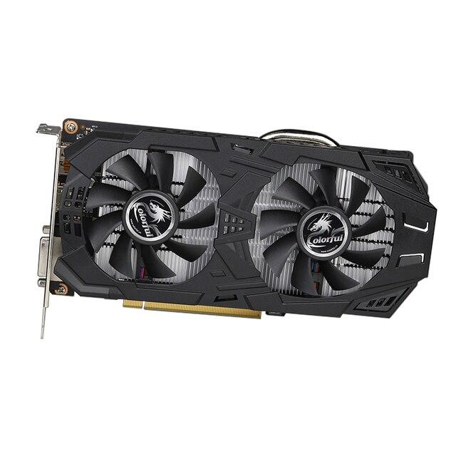 COLORIDO GeForce GTX1060 3GD5 V5 Gaming Placa Gráfica 1518-1713 MHz PCI-E Placa de Vídeo DVI + HDMI + DP com 2 Ventiladores de Memória ETH