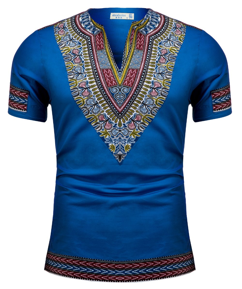 African Clothes For Men African Tradition Print Shirt Dashiki Fashion T-Shirt Tops