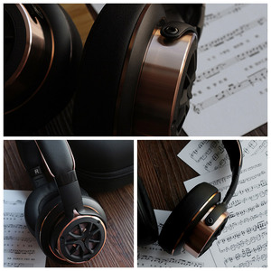 Image 2 - 1 יותר H1707 לשלושה נהג מעל אוזן קווית אוזניות Hifi בידוד רעש על אוזן אוזניות אוזניות גדולות עבור טלפון, מתקפל עיצוב
