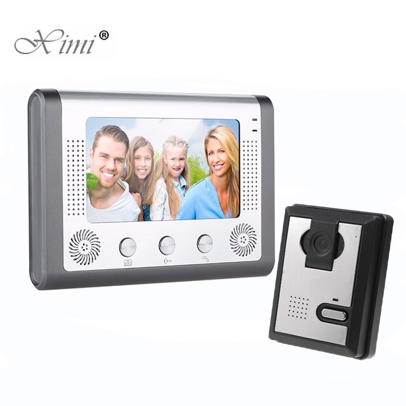 Good Guality 7 Inch Video Door Phone System Door Access Control System Color Screen Video Door Intercom Wired Door Bell Intercom v70h l 1v1 xsl manufacturer 7 inch color water proof video door phone system and audio intercom door phone for villa