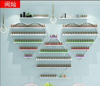 Nail oil rack hanging wall rack cosmetics display heart shaped shelf wall hanging