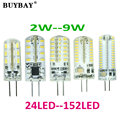 G4 LED Bulb SMD 3014 LED lamp 2W 3W 4W 5W 6W 7W 9W 24-152leds Lampada led DC12V AC220V LED Chandelier led Replace Halogen lights