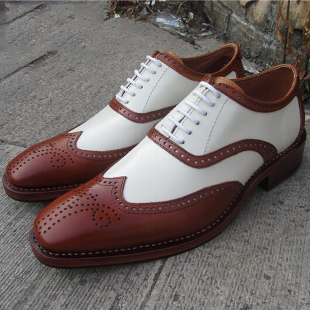 compare prices on brown and white wingtip shoes
