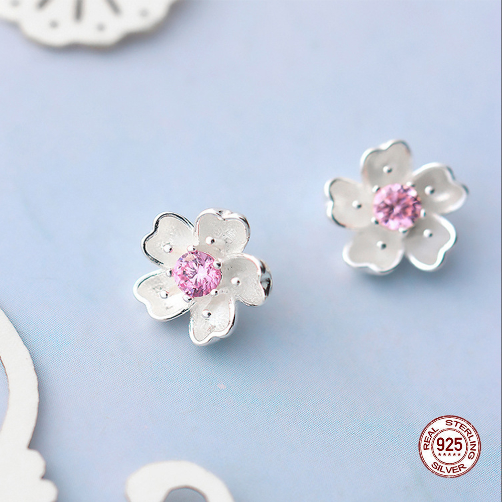 Купить с кэшбэком Sunflower Flower Earrings Accessories For Women 100% S925 Sterling Silver New Design Dainty Elegant Wedding Earring Fine Jewelry