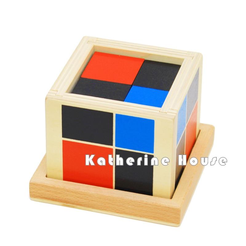 Bebé Juguete Montessori Algebraico Binomial Cubo Educación Infantil - Educación y entrenamiento - foto 3