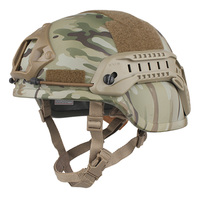 Tactical Skirmish Airsoft Navy Seal Multicam Camouflage Helmet Ach Mich 2000 Special Action Version