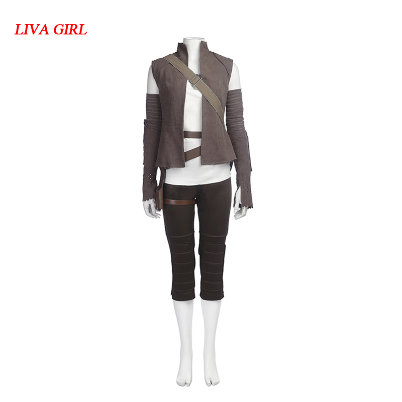 Star Wars The Last Jedi Rey Cosplay Costume Halloween Cosplay Rey Costume Star Wars suit Rey clothing Custom made