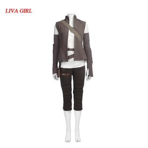 Звездные войны последний джедай Рей Косплей Костюм Хэллоуин косплей Рей костюм Звездные войны костюм Рей одежда на заказ