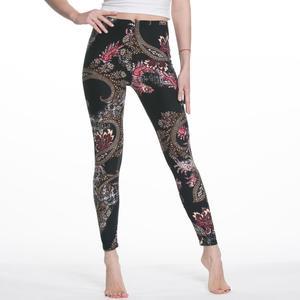 Image 3 - Legginsy damskie wysokiej talii komiks kreskówka spodnie z nadrukiem miękkie kobiece spodnie elastyczne na co dzień