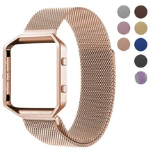 Milanese loop strap For Fitbit Blaze watch Band Stailess Steel bracelet for Fitbit Smart Watch accessories + frame