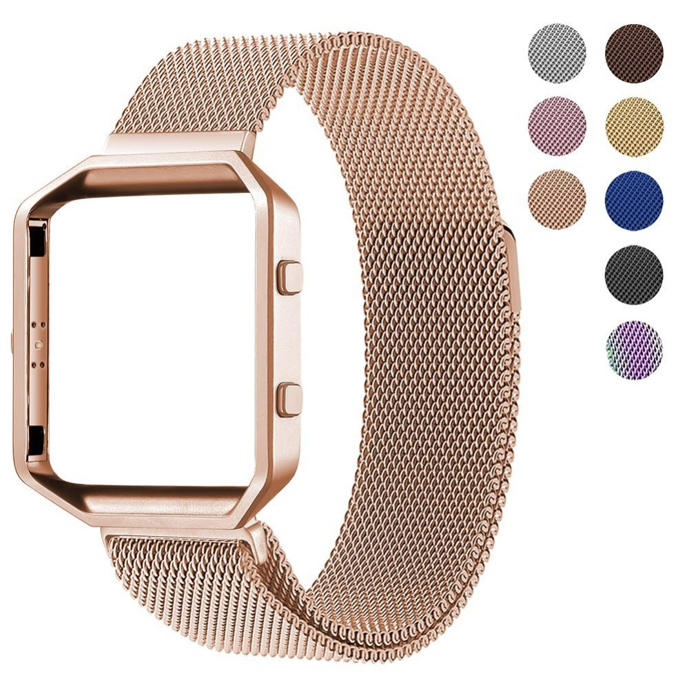 Milanese loop strap For Fitbit Blaze watch Band Stailess Steel bracelet for Fitbit Smart Watch accessories + frame fabulous multi color luxury tpu silicone watch band strap for fitbit blaze smart watch watch band hot sale dropship claudia
