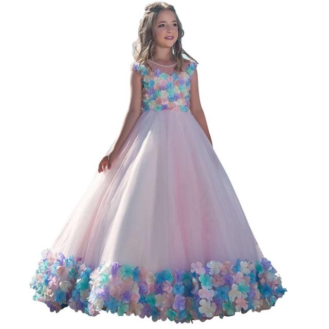 princess little girls dresses 2 12 kids ball gowns robe petite fille ...