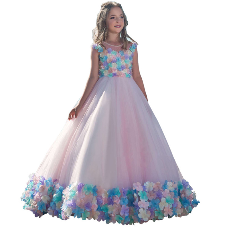 princess little girls dresses 2-12 kids ball gowns robe petite fille fancy girls dress for children vestido infantil para menina
