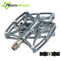 ROCKBROS MTB Bicycle Pedals Professional Cycling Bearing Flat Platform Pedals Mountain Road Bike Ultralight Pedals 3