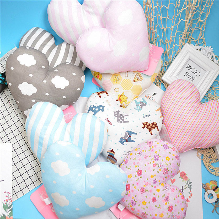 Baby Pillows Room Decoratie Baby Nursing Pillow For Infant Heart Shape Pillow For 0-2 Years Kids Headrest
