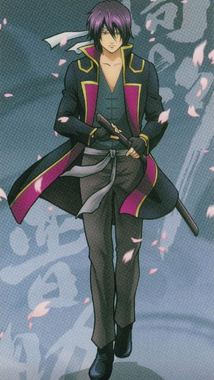 Gintama Takasugi Shinsuke Cosplay Costume and Wig Free Shipping for Halloween and Christmas