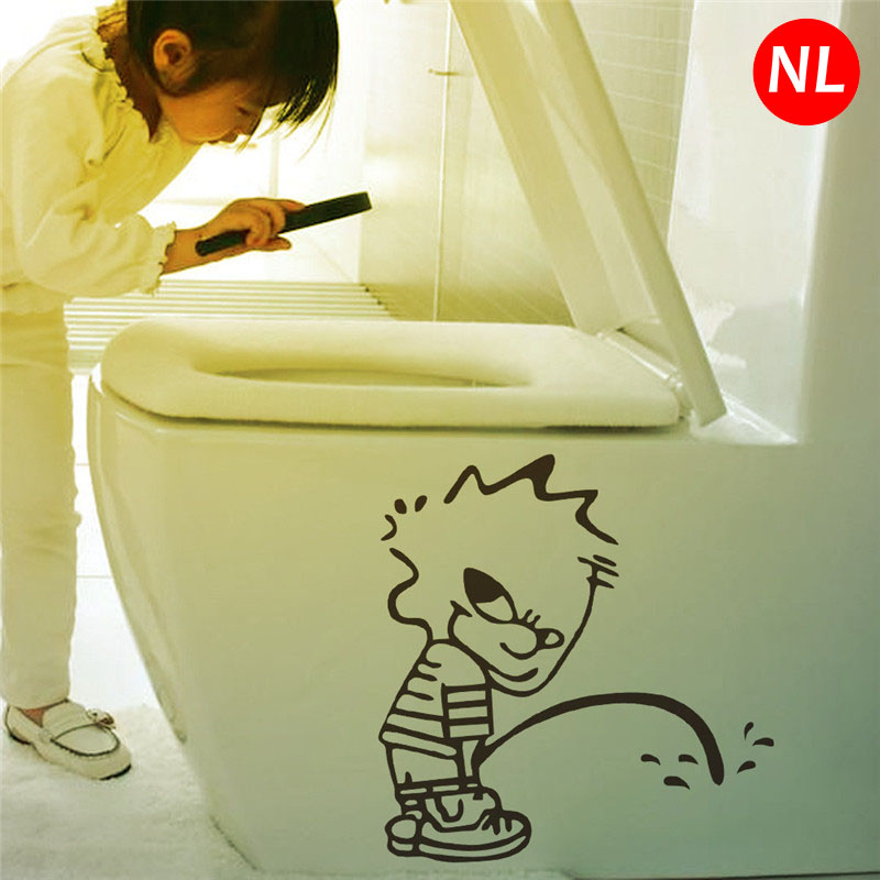 DIY Funny Toilet Paper Dolls Seat Bad Boy WC Wall Stickers For ...
