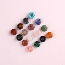 Druzy Trendy Natural Stone Safety Button Beads 12pcs/lot Mixed Color Crystal Necklace Pendants For Jewelry Making Free Shipping