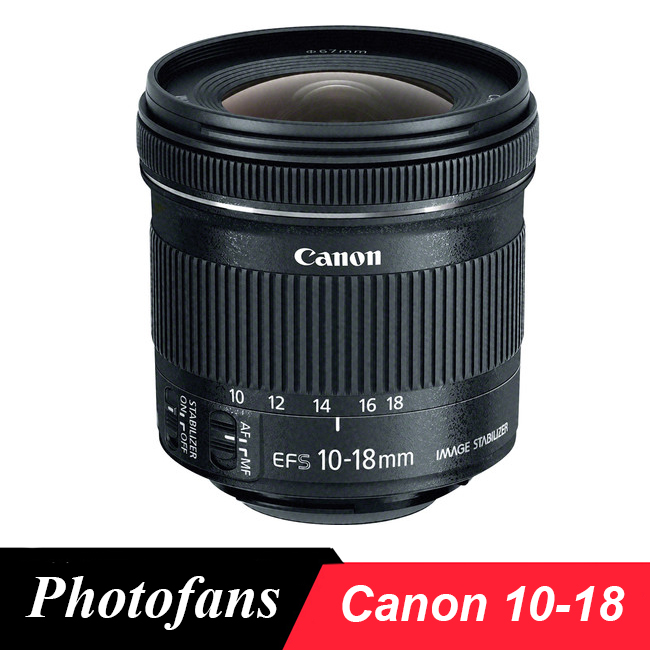Canon 10-18mm Lentille Canon EF-S 10-18mm f/4.5-5.6 IS STM Objectif pour Canon 450D 550D 650D 700D 760D 60D 70D 80D 7D T3i T5i