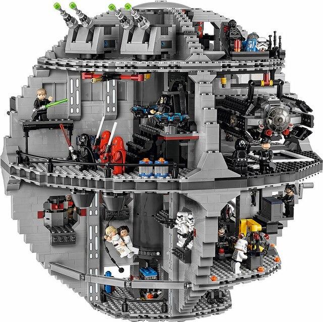 Lis 05063 4016pcs Genuine Star New War Force Waken UCS Death Star Educational Building Blocks Bricks Toys Boy legoINGLYS 7515