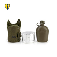 Amerikaanse Leger Waterfles Aluminium Koken Cup Ons Camouflage Militaire Kantine Camping Wandelen Survival Waterkoker Outdoor Servies(China)