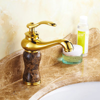 Four color golden bathroom basin faucet be choose DONA Sanitary ware deck mounted bathroom basin water faucets